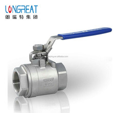 2018 new design Chinese factory provide SUS SS 304 316 2PC reduce port ball valve 1000 PSI