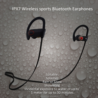 In-Ear Waterproof Bluetooth Headphones Wireless Head Phone For Mobile Cell Phone Laptop Tablet RU9