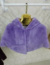 new style rex rabbit fur kids shawl