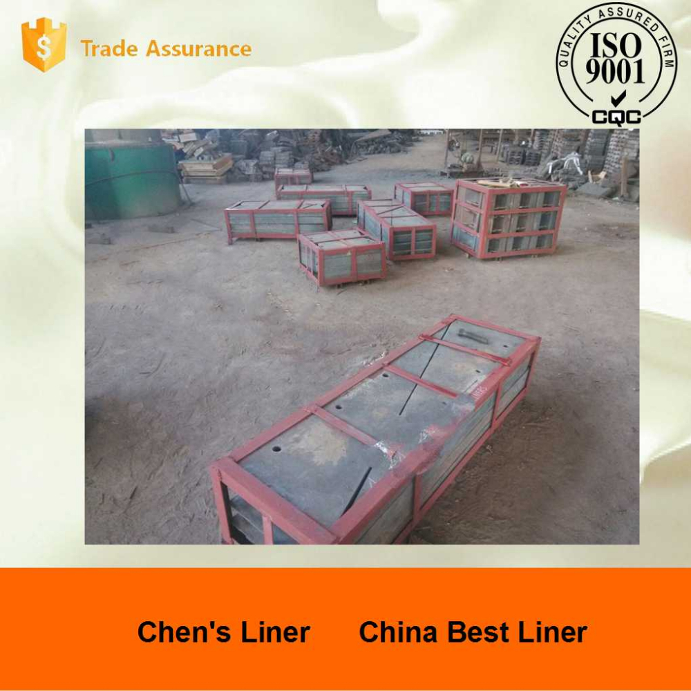 High Cr Cast Iron Chute Liners for Mining Industry