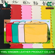 High quality smooth pvc varnish leather fabric for bag
