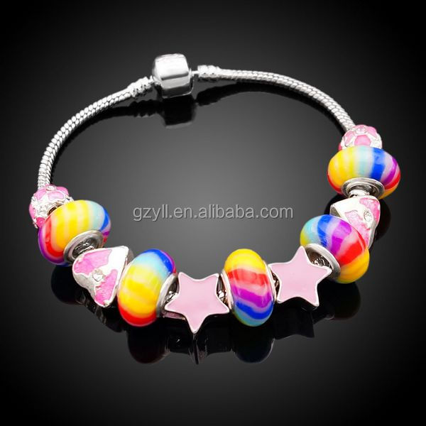 New arrival charm bead bracelet for girl's Christmas gift