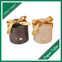 FREE SAMPLE CARDBOARD ROUND GIFT BOX FOR FLOWER PACKAGING WITH RIBBONS