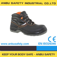 2013 new style steel toe cap covering embossed leather oil resistant safety shoes