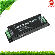 DC5-24V,Max480W,Lightning Protected DMX SPI Decoder convert DMX512 Signal into SPI signal to Dim 10 types led strips,