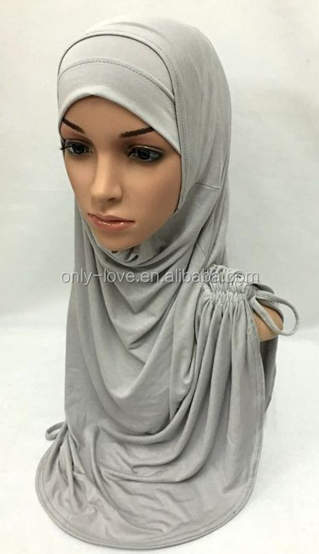 large size big jersey cotton two peices muslim hijab islamic scarf XM156