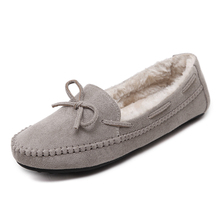 cheelon shoe euro driving warm female footwear soft wool casual autumn winter flats shoes women lady