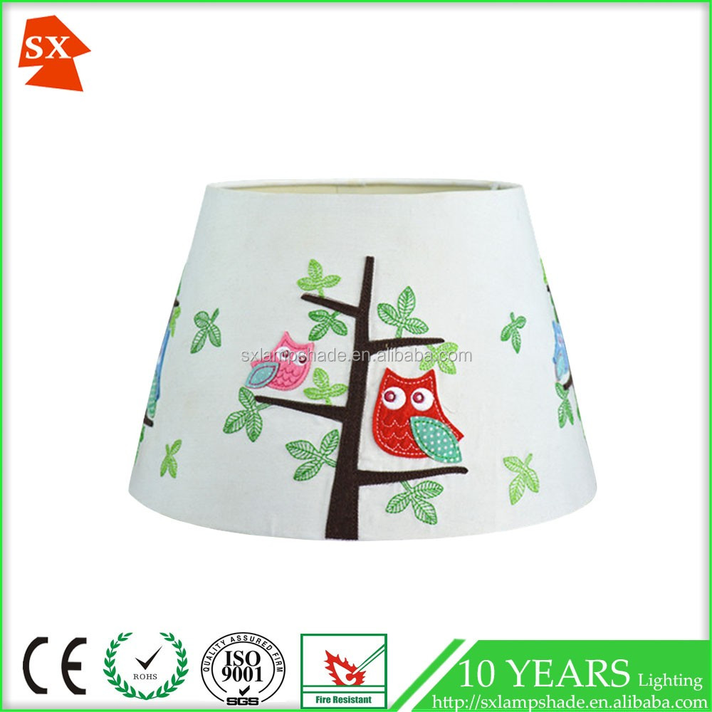 charming active children natural trees blue and red birds barrel lighting shade