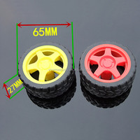 Wholesales 65MM TT Motor Toy Rubber Tire For Smart Car Chassis