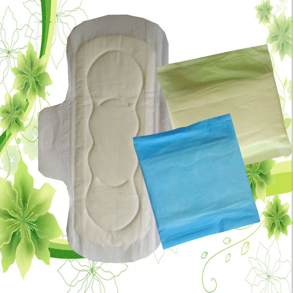 Winged Shape and day Time Used anion sanitary napkins packaging bag