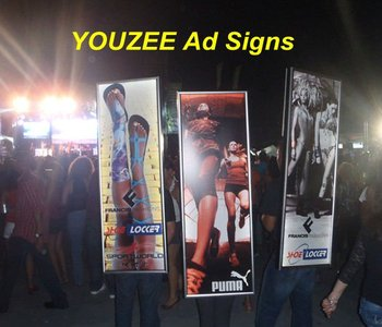 New GenerationStreet Advertising! YOUZEE backpack LED sign