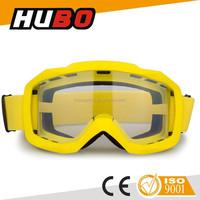 Popular single clear lens anti slip safety helmet motorcycle goggles