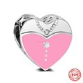 Wedding Anniversary Bride and Groom 925 Sterling Silver Charm Beads For DIY European Bracelet Necklace Making DSP025
