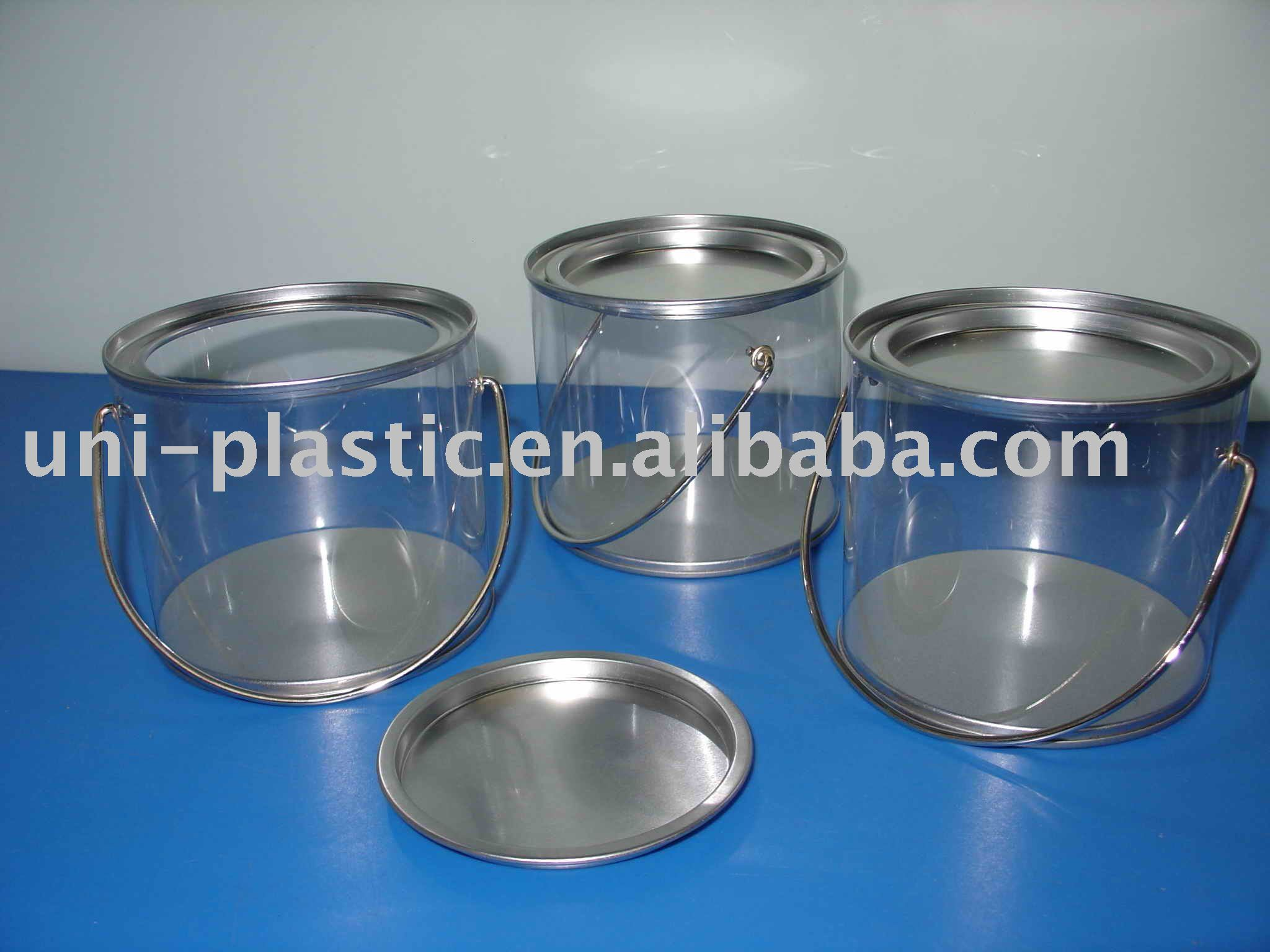 Christmas tin pvc Buckets