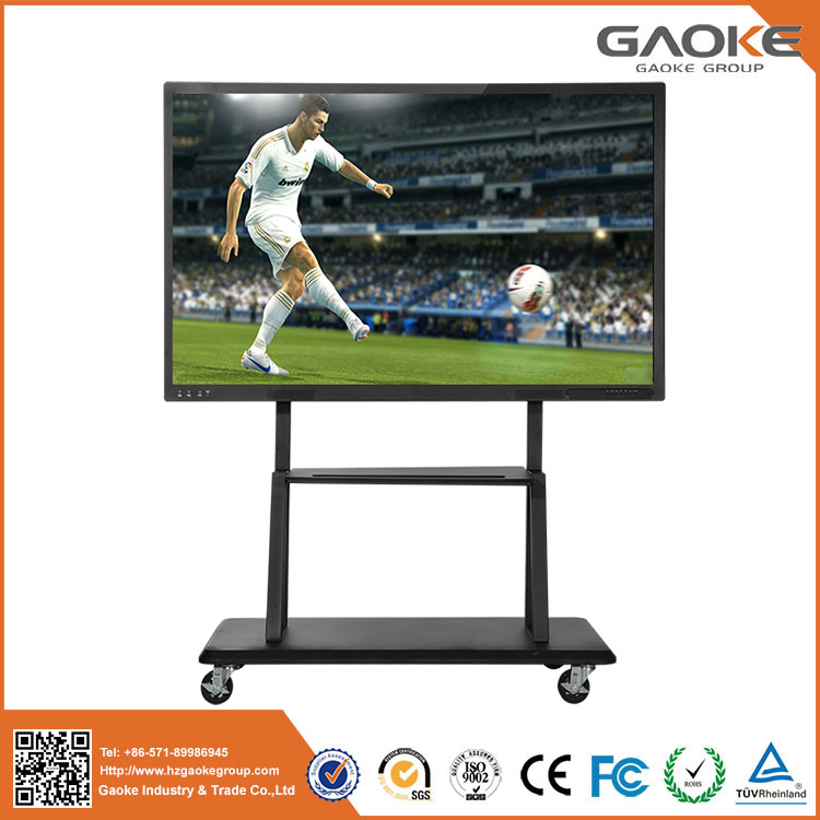 flat screen1080p 4k interactive flat display panel board big 98'' 84'' 75'' LCDLED waterproof touch screen usb monitor