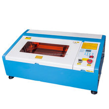 China cheap price High precision 40w 50w 4030 mini small desktop rotary system wood pen laser engraving machine