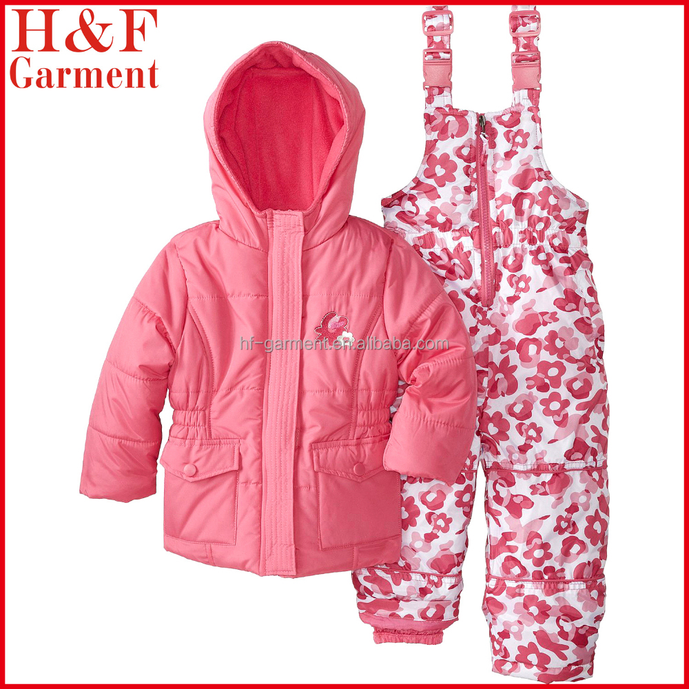 Beautiful clothes children with floral embroidery for girl