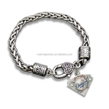 2016 Trendy Los Angeles Dodgers Fans Bracelet MLB Baseball Team Logo Charm Bracelet