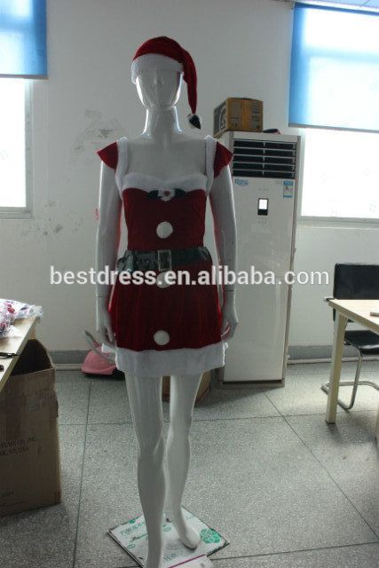 walson clothes apparel Sexy Santa Costume DELUXE Mrs Christmas Outfit Fancy Dress