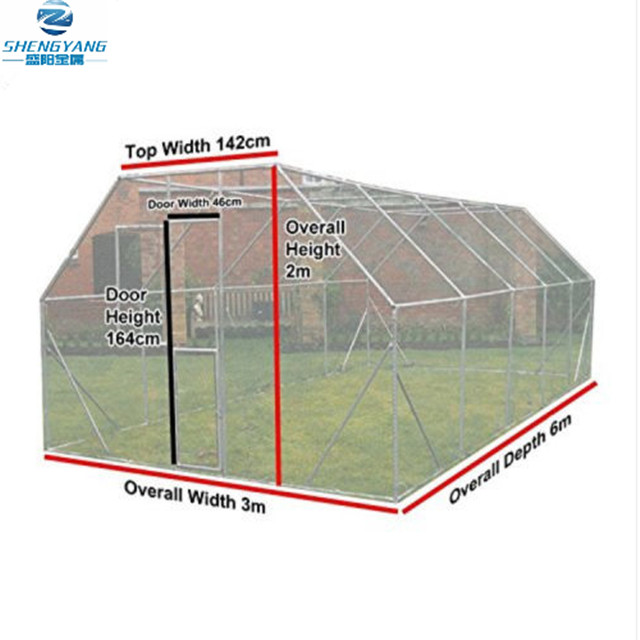 dog exercise pen run extra large walk in kennel galvanised cage 6m x 3m x 2m