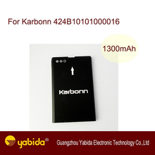 Production in China rechargeable Li-ion mobile battery cell phone batteries For Karbonn 424B10101000016 3.7V 1300mA