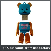 colorful 8GB animal shape custom soft pvc usb flash drive