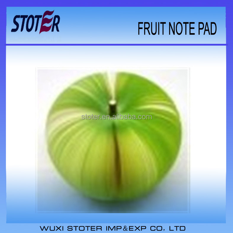 funny fruit note pads apple sized notepads