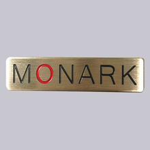 Top Quality Soft Enamel Type And Strong Adhesive Use Custom Brushed Metal Nameplate For Box