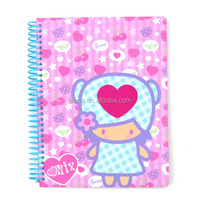 Korean Stationery Lovely Girl Pink Notepad Wire Bound School Supply