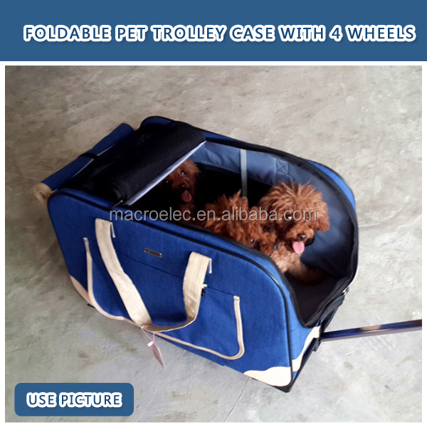 Fashional foldable pet carrier dog bag