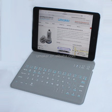 New arrival ultra thin folio Bluetooth keyboard case for tablet pc