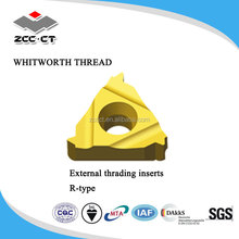 Whitworth Threading inserts carbide for steel and stainless steel and hard to machine materials