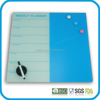 Custom good quality glass magnetic memo board, office glass drawing boards