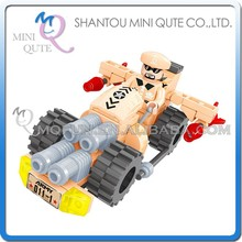 Mini Qute DIY military army Armored car tank vehicle action figures plastic cube building blocks bricks educational toy NO.22302