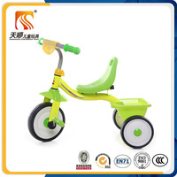 Three wheel cheap kids tricycle with plastic seat