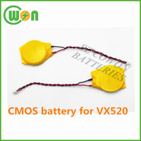 High quality CR2450 with lead and wire for verifone Vx520 CMOS Cr2450 with wire and connector for VX520 back up battery