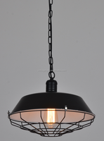 Loft Vintage Dia 260mm Pendant Lights With Black & Retro Color Nordic Metal Industrial Edison Pendant Lamps For Restaurant & Bar