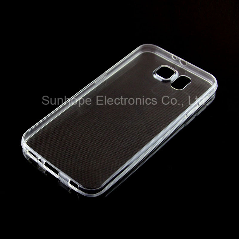 ultra-thin clear crystal tpu cell phone case for Galaxy S6 G920F