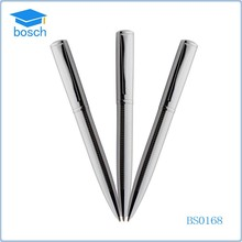 2015 customized logo short simple metal pen heavy ballpen