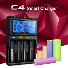 MiBoxer C4 Charger 18650 Battery Charger with EU Plug Charge for AA, AAA Battery