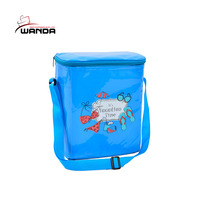 Hot Sell dark bule large 600D polyester cooler picnic bag for lunch