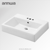 one piece bathroom ceramic sink and countertop