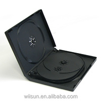 22 mm multi dvd case with 2 trays 6 disc black DVD Case