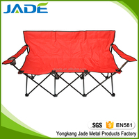 Modern furniture design camping aluminum three seats chair with high quality