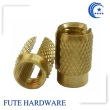 Brass Threaded Insert Nut With Deep Straight Slot