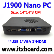 All in one Intel Celeron J1900 Quad Core Fanless Embedded X86 Nano PC media play box