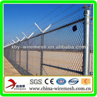XBY Low Cost Galvanized Institution Chain Link Fence Made In China (20 Years' Factory!)