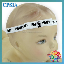 Mustache Printed Fold Over Hairbands For Baby Girls Fashion Knitted Headband Pattern