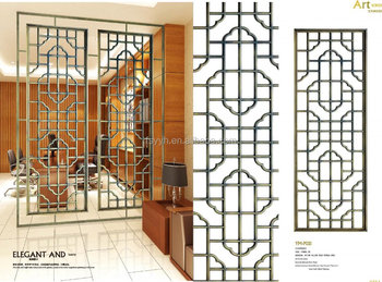 Gold color stainless steel room decorative panle