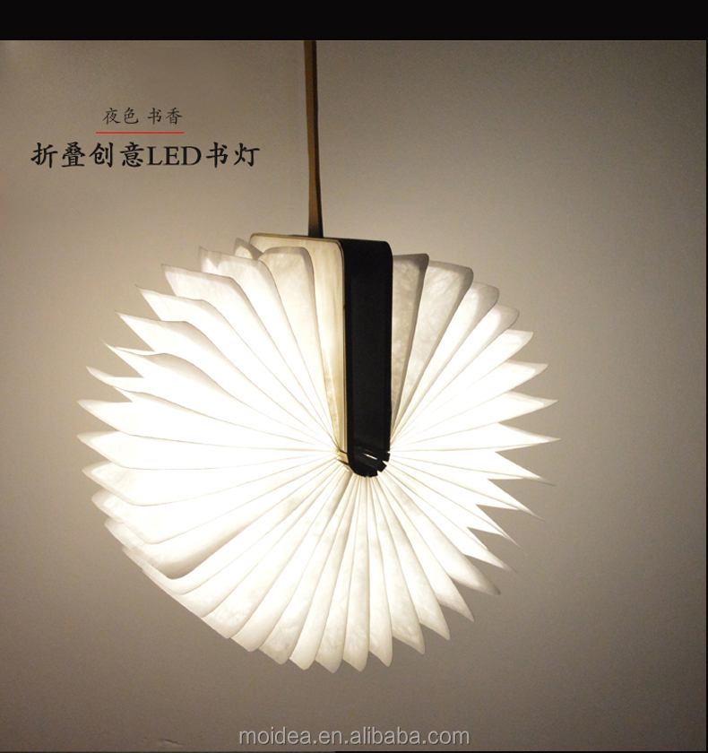 Beautiful LED Light Battery Operated USB Nightlight Book Shape Lamp for Room